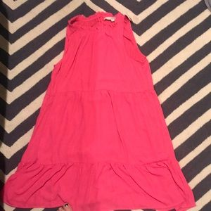 Pink Ruffle Loft Dress! Size L